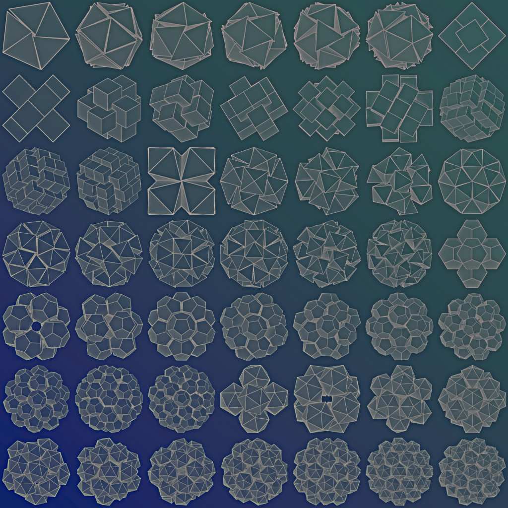 Clusters of polyhedra in spherical confinement